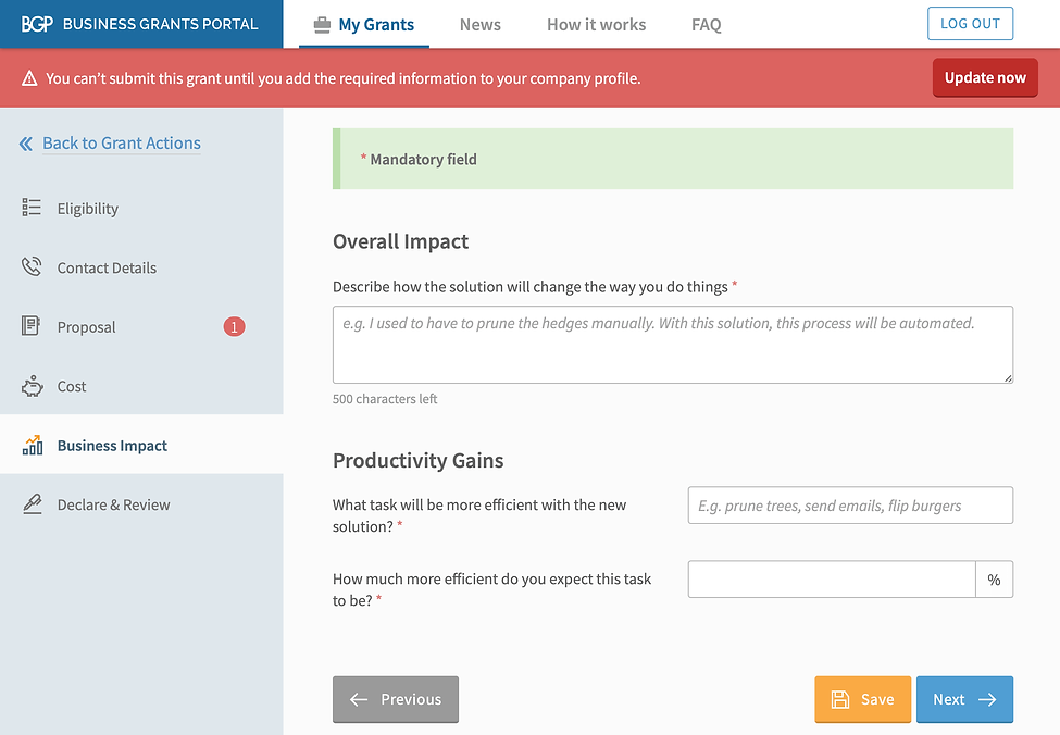 Describe overall impact of using MYOB