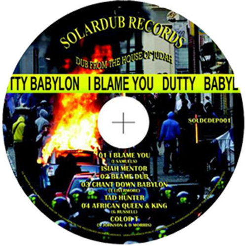 I BLAME YOU RIDDIM CD