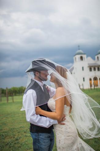 Bride and Cowboy Groom