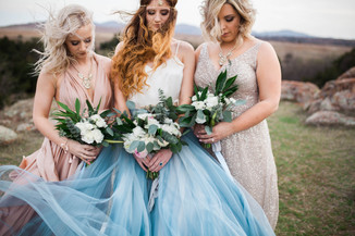 Gypsy Bride and Bridesmaids