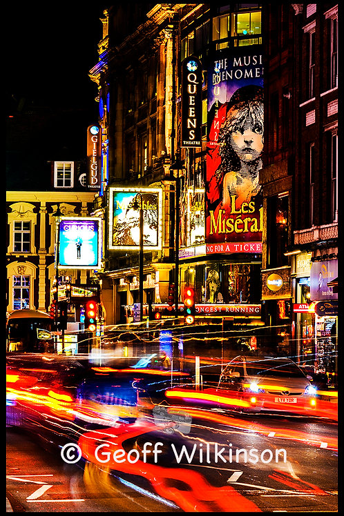 Theatreland: Shaftesbury Avenue.