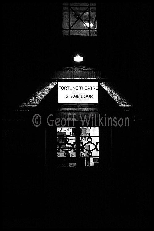 Fortune Theatre Stage Door, London,