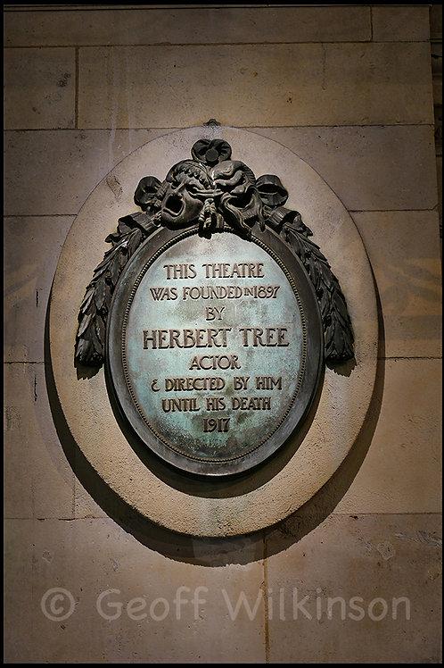 Her Majesty's Theatre Haymarket plaque