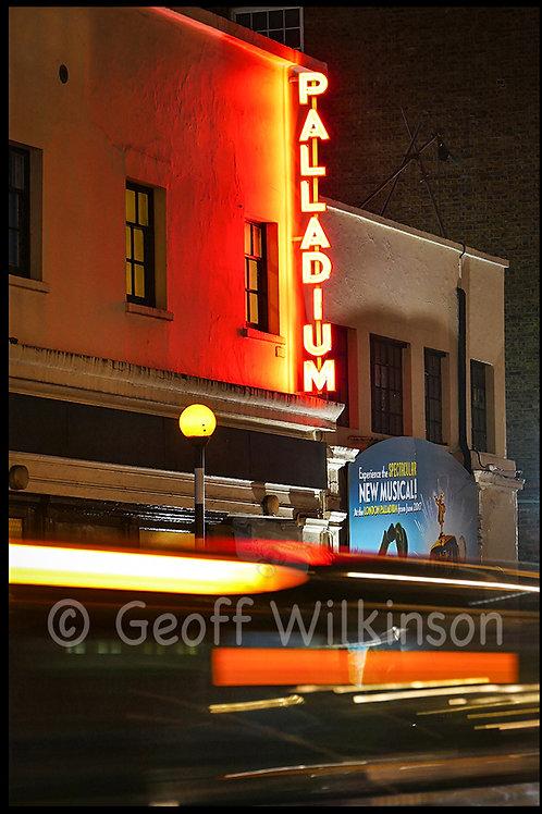 London Palladium from stage door entrance.