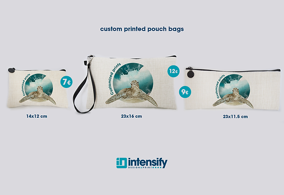 Printed Linen Pouch Bags