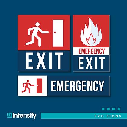 PVC EXIT Signs