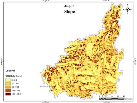SLOPE MAP OF JAIPUR, RAJASTHAN