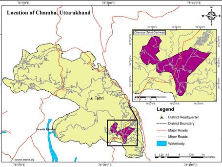 LOCATION MAP OF CHAMBA, TEHRI- GARHWAL, UTTRAKHAND