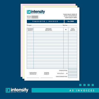 A5 Invoices