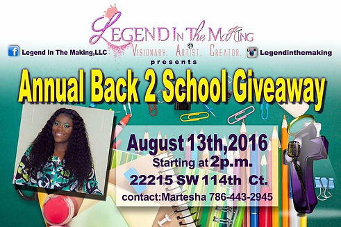 Annual Back 2 School Giveaway