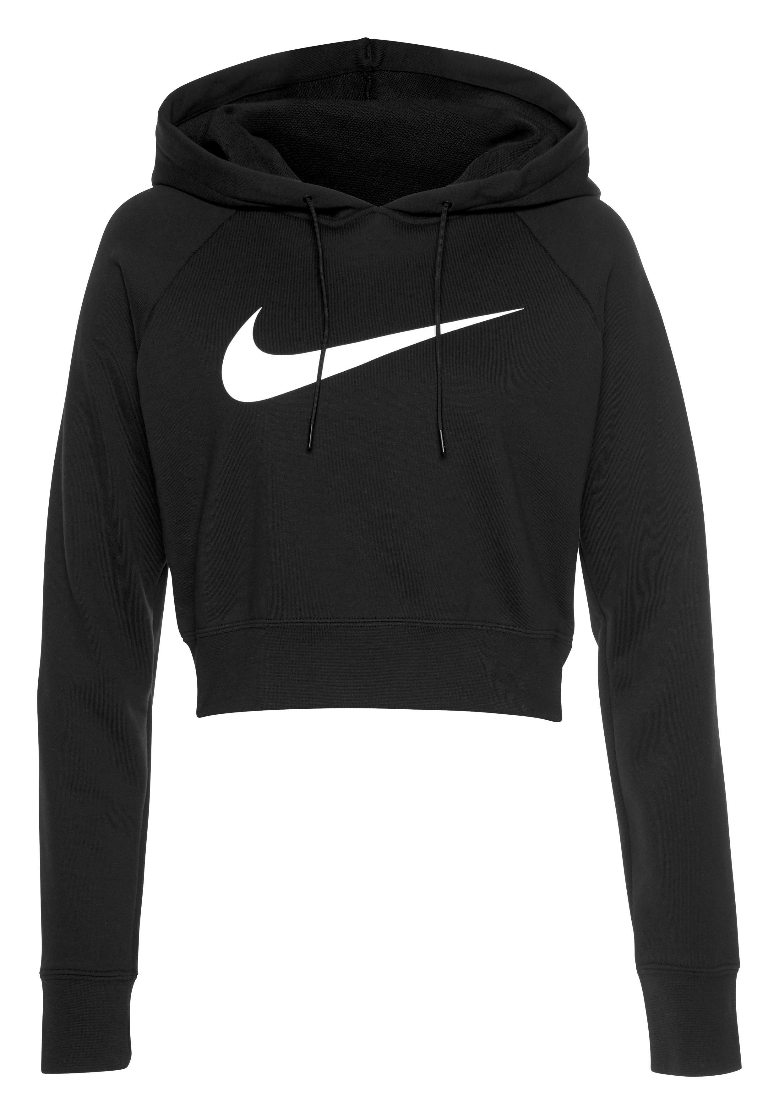 Nike hoody crop black