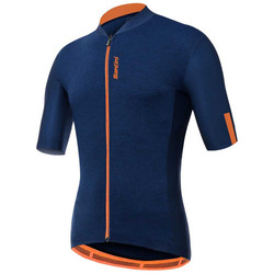 Santini gravel jersey blue