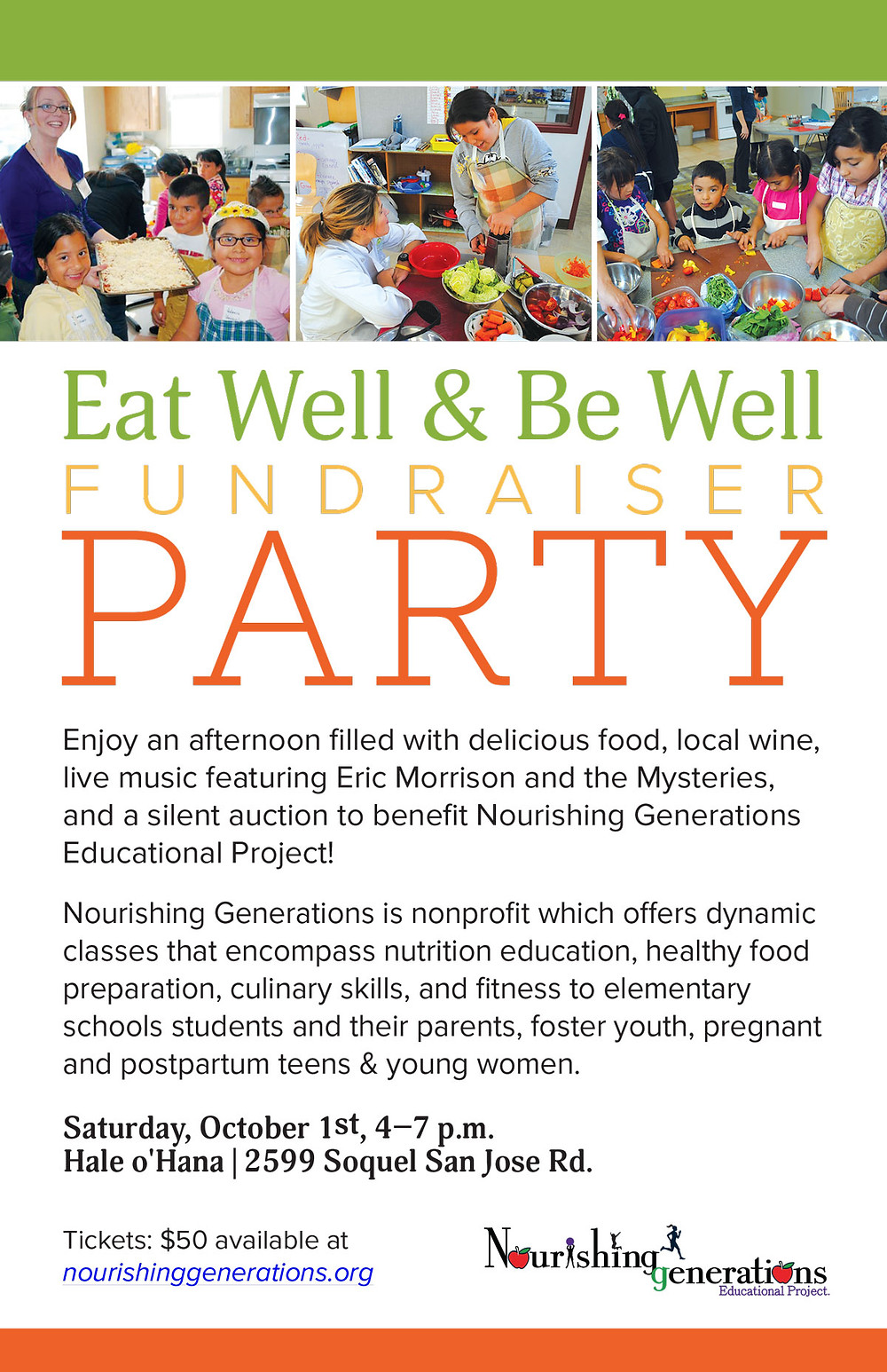 Eat Well & Be Well Fundraiser Party Flyer