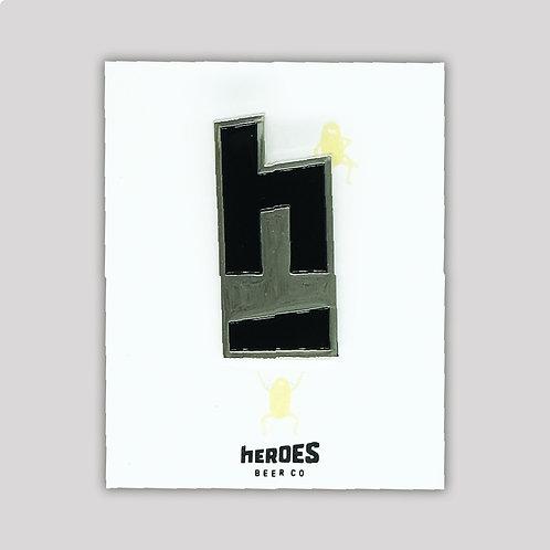 Metal Pin - hEROES Logo