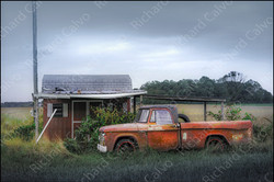 """""""Red Pickup Truck, Rt 1, Lewes, Delaware"""" Richard Calvo Photography"""