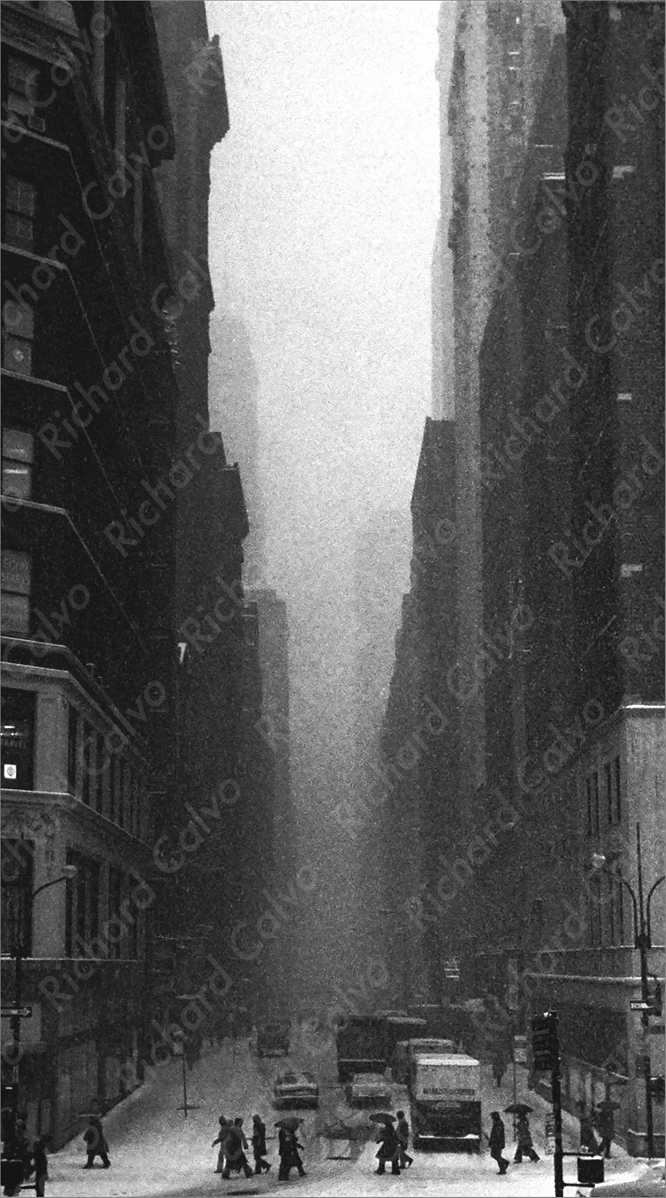 """New York Snow 1971"" Richard Calvo Photography"