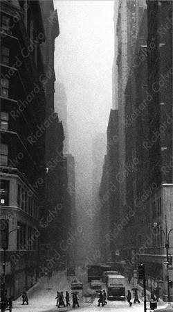 """New York Snow 1971"" Richard Calvo Photography"