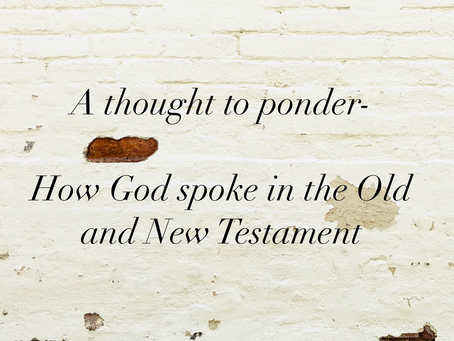 How God Spoke in the Old and New Testament