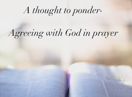 Agreeing with God in Prayer