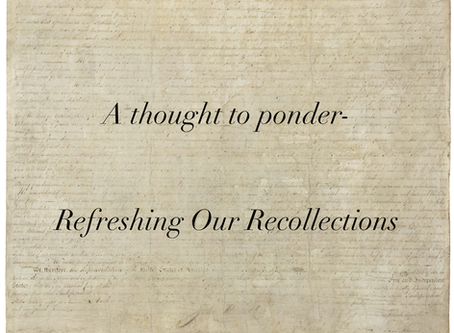 Refreshing Our Recollections