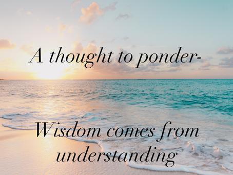 Wisdom comes from understanding