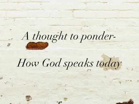 How God Speaks Today