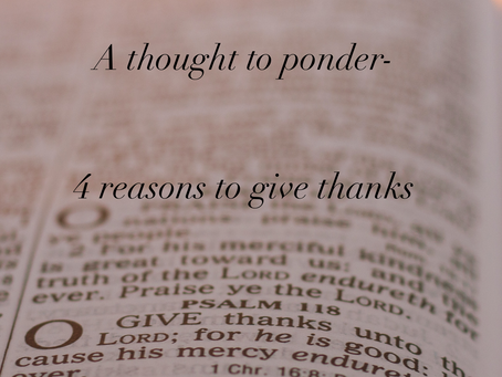 4 reasons for giving thanks