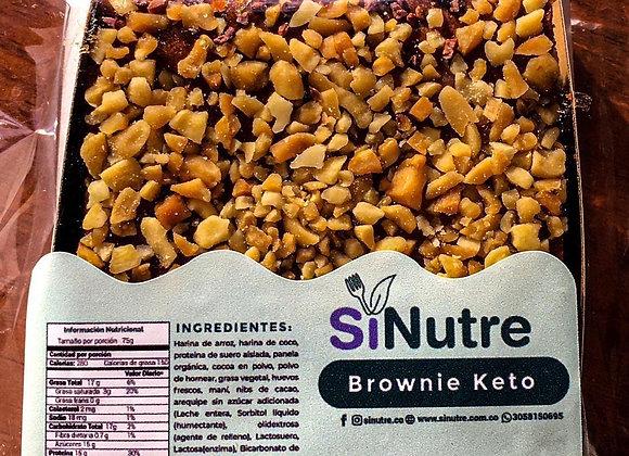 Brownie keto con proteína
