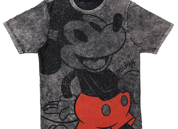 Camiseta Mickey gris hombre