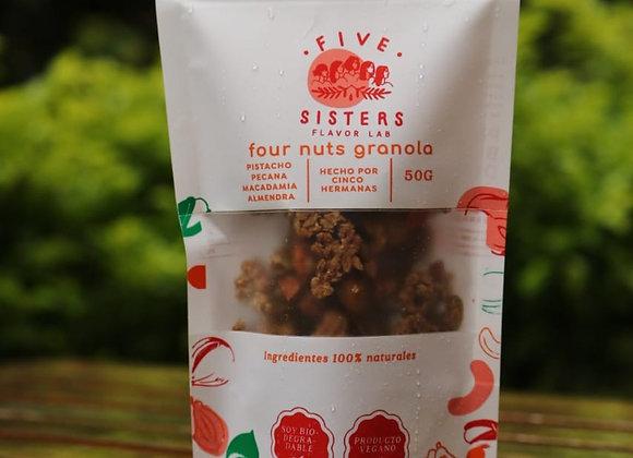 Four nuts granola x100gr