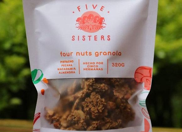 Four nuts granola x320gr