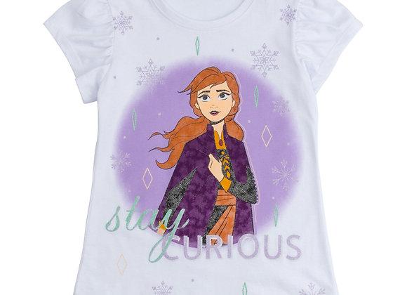 Camiseta Frozen Stay curious niña