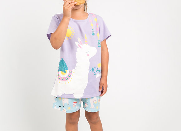 Pijama niña llama