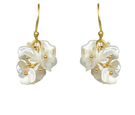 Keshi Pearl Cluster Earrings