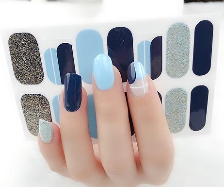 Blue Ting Gel Nail Wraps