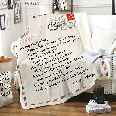 Letter Shirpa Blanket