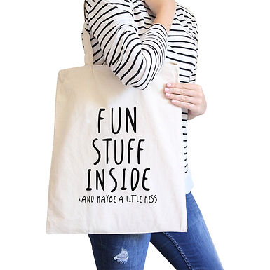 Fun Stuff Inside Canvas Bags