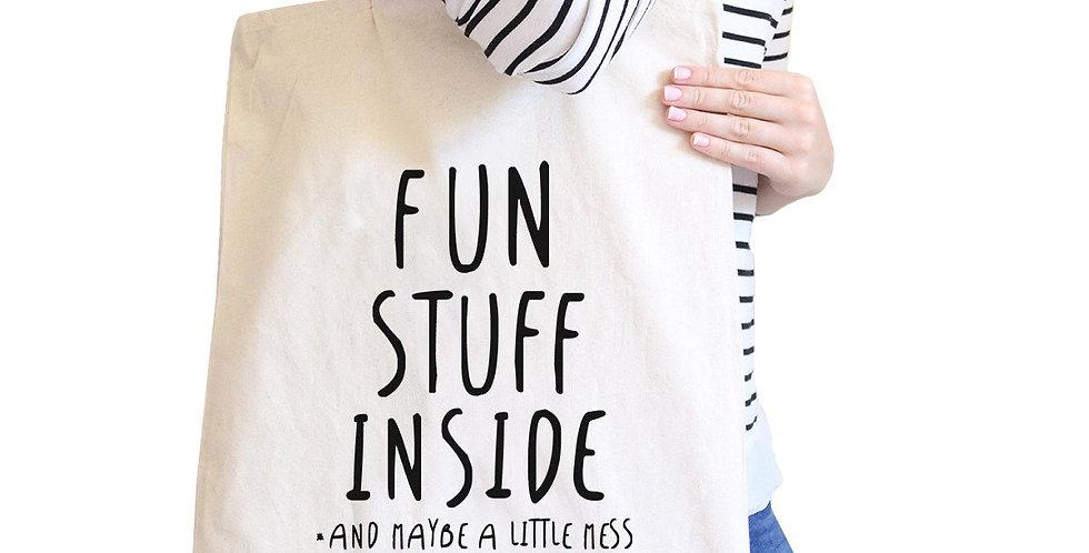 Fun Stuff Inside Canvas Bags