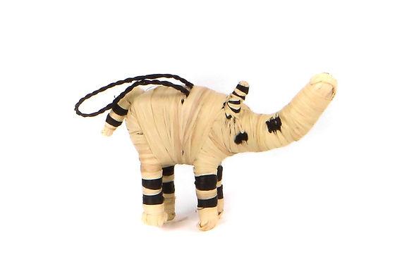 Natural Raffia Rhino Ornament