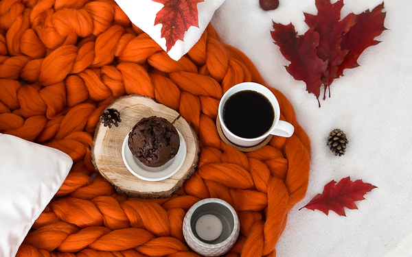 Pumpkin Spice Lattes and Thick Knit Blankets