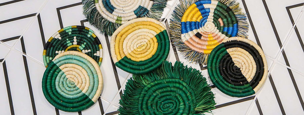 Evergreen Fringed Coasters