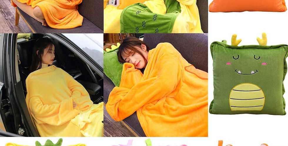 Wearable Plush Pillow Blanket