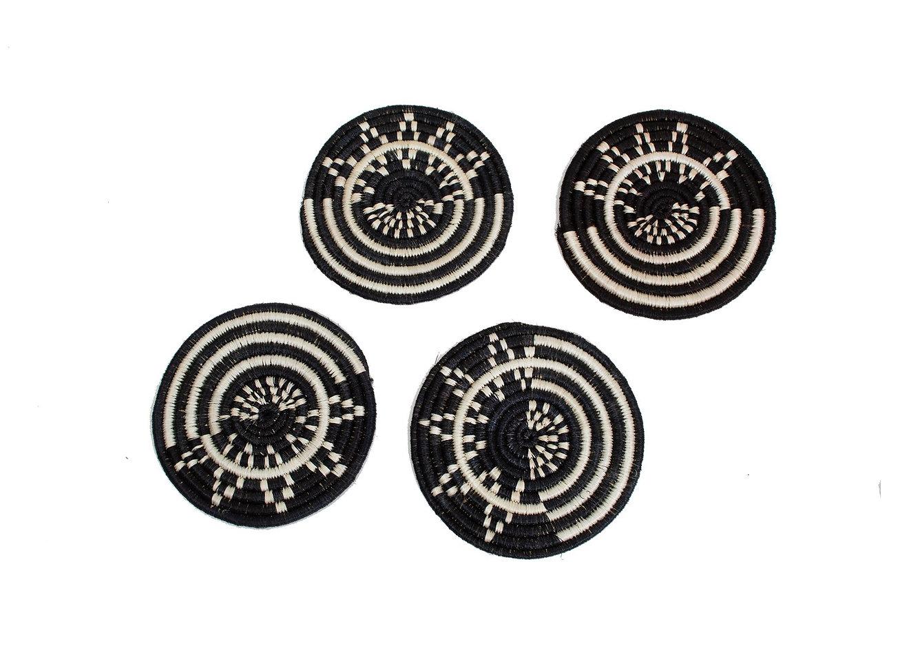 Black Mara Coasters, Set of 4