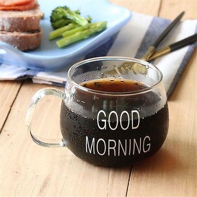 Good Morning Glass Mug