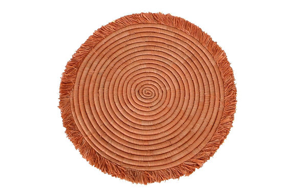Peachy Large Fringed Wall Disk