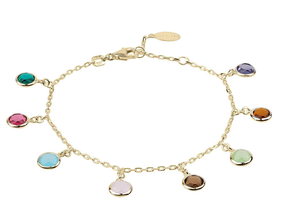 Florence Multi Coloured Gemstone Bracelet