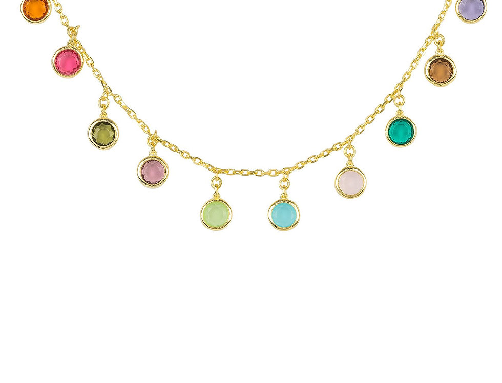Florence Rainbow Gemstone Necklace