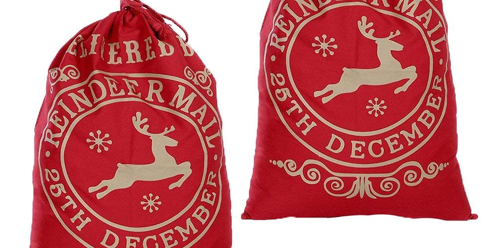 Delivered by Reindeer 2pc Christmas Bag Set