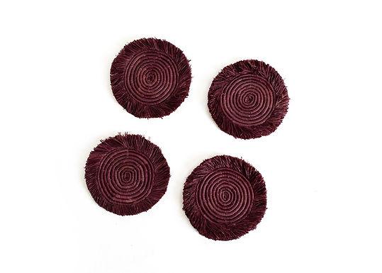 Burgundy Coasters