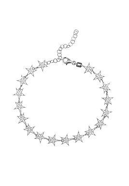 Star Tennis Bracelet Silver